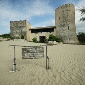 …with just the odd distraction, like this villa in the style of an Omani fort.