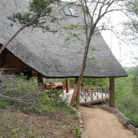 Follow sandy paths to Tongole Lodge's large, thatched main building…