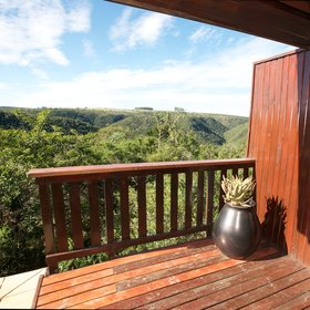 Enjoy views over the hilly green countryside from your own outside deck…