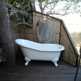 ...and one room has an outdoor bath.