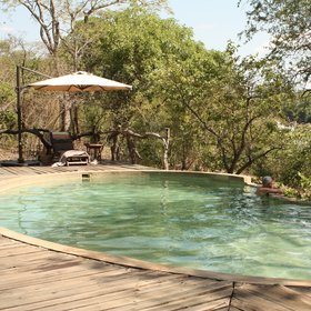 In between activities, you can cool down in Mkulumadzi's swimming pool…