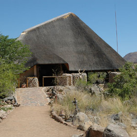 The impressive main lapa of Huab Lodge
