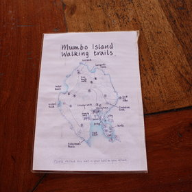 There are a few hiking trails around the island and maps are provided.