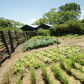 ...as well as its vegetable and salad garden which supplies fresh produce to its guests.