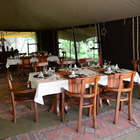 ... where separate tables are laid for guests to enjoy private dinners.