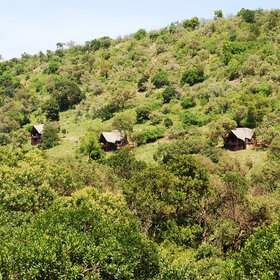 Saruni Mara is set on a high ridge ...