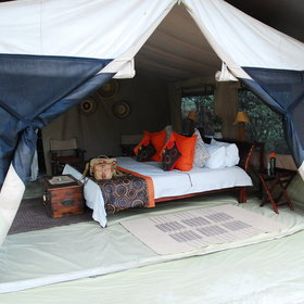 Leleshwa's tents are traditionally styled but very cool and comfortable…