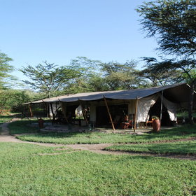 It is a lovely tented camp...