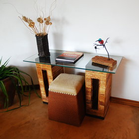 … as well as a writing desk