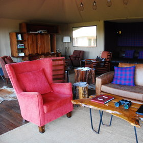 The lounge area is a nice space to relax, with a mixture of traditional furnishings….