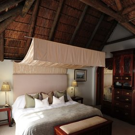The lodge has 21 thatched suites…