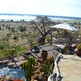 From Ngoma Safari Lodge you have a great view of the Chobe River.