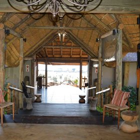 The whole lodge is decorated in a classic safari style...