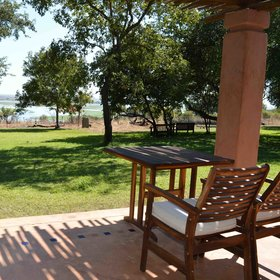 Views out to the lawn and to the Chobe River in the distance...