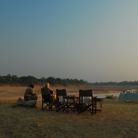 Our favourite is breakfast on the banks of the Luangwa River.