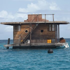 The underwater room - anchored 250 meters offshore - is the newest addition to Manta Resort.