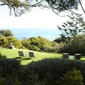 It is set on a 4 acre nature reserve with lovely views of the sea.