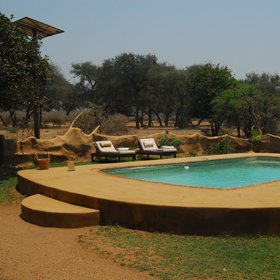 The camp has a small pool to cool off in during the hotter afternoons.