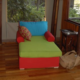 ...and its own colourful furniture.