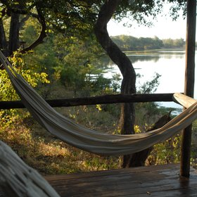 Which have lovely views over an old river course of the Luangwa River...