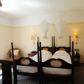 Double and twin beds are available.