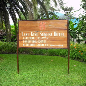 The Kivu Serena Hotel is situated on the lake shore in Gisenye.