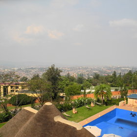 …and offers the panoramic views over the hills of Kigali.
