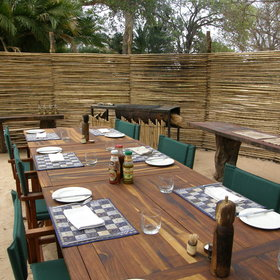 Further back is the dining boma where brunch is usually taken after the morning activity.