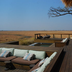 Each part of the camp makes the most of the view over the grasslands.