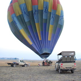 Another option for exploring the wilderness is a balloon safari…