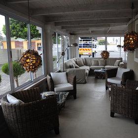 Swakopmund Guesthouse central area includes a lounge area...