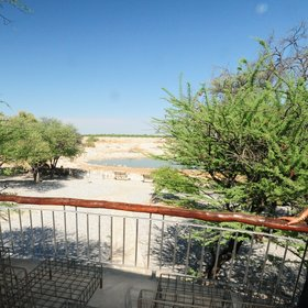 …and to a balcony overlooking the waterhole.