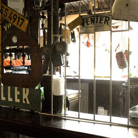 The bar is designed in the style of a shebeen...