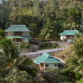 The Hotel L'Archipel is located in the North-East region of Praslin, tucked away in the tropical hillside garden.