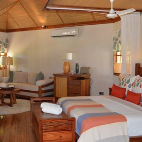 The cottages are spacious with an open-plan bedroom/sitting area…