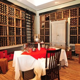 You can also have a private dinner in the lavish wine cellar!