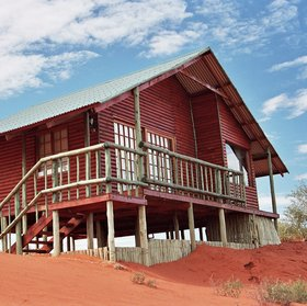 Bagatelle Kalahari Game Ranch is found in the Kalahari...