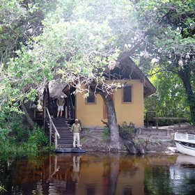 Susuwe Island Lodge is situated on an island in the Kwando River within Bwabwata N.P.
