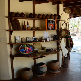 …and a small shop with hand-crafted souvenirs.
