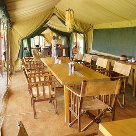 …and the dining area, where you can enjoy delicious meals…