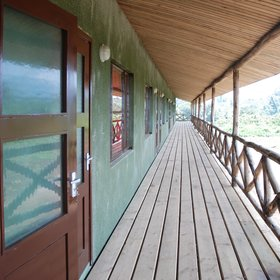 Each of its 24 rooms can be reached by a wooden deck …