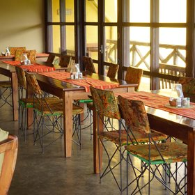 Lunch normally takes place in the large dining area, and …