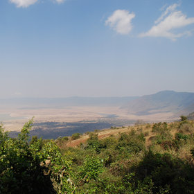 … on the western rim of Tanzania's UNESCO-listed Ngorongoro Crater.