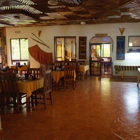 Also based in the main building is the large dinning room, …