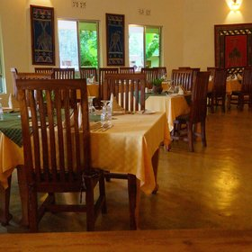 Meals either take place in the large dinning rooms, …