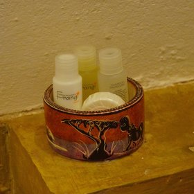 Soap and shampoo are provided in all rooms.