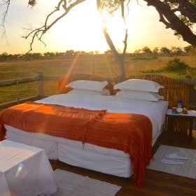 ...and is comfortably set up for a romantic night under the starry African sky.