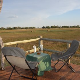 It has fabulous views over the surrounding floodplains...