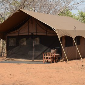 The camp has just 5 tents, which are spacious and...