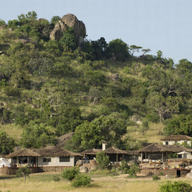 Mkombe's House is located by a huge, rocky kopje in the northern Serengeti.